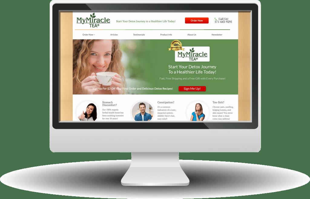 Unleashed Web Design Portfolio - My Miracle Tea