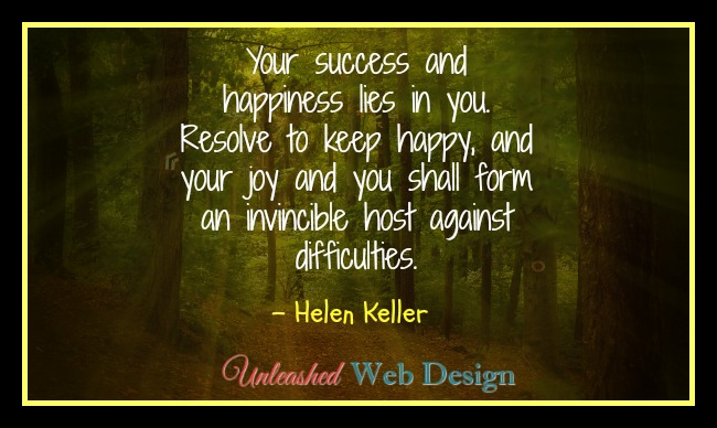 Your success and happiness are in your control....see what you can do to ensure them!